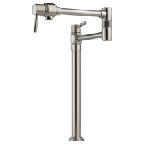 Brizo EURO Deck Mount Pot Filler Faucet in Stainless