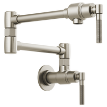 Brizo LITZE® Litze Wall Mount Pot Filler with Knurled Handle in Stainless