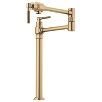 Brizo LITZE® Litze Deck Mount Pot Filler with Knurled Handle in Luxe Gold