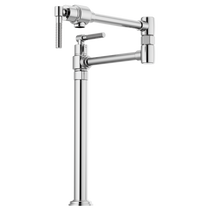 Brizo LITZE® Litze Deck Mount Pot Filler with Knurled Handle in Stainless
