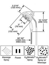 BRIZO Classic Round H2Okinetic® Multi-Function Hydrati® 2|1 Shower in Venetian Bronze
