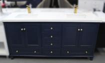 Keyes 60 inch Navy Blue Double Sink Bathroom Vanity