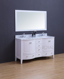 """Destiny 72"""" White Double Sink Bathroom Vanity"""