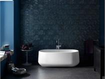 "Kohler Ceric®65"" x 31"" freestanding bath with center toe-tap drain in White"