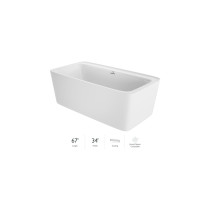 Jacuzzi ADATTO FREESTANDING BATH in White