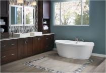 "Jacuzzi Bravo 66"" Soaking Freestanding Bathtub with Center Drain in White"