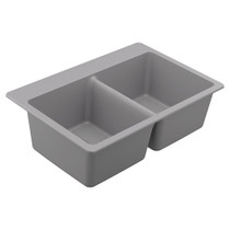 Moen Granite Series Double Bowl Undermount Or Drop In Sink in Grey