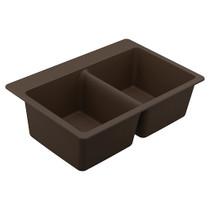 Moen Granite Series Double Bowl Undermount Or Drop In Sink in Brown