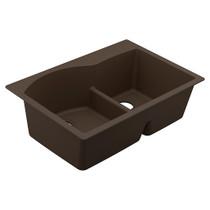 """Moen Granite Series 33""""X22"""" Granite Granite Double Bowl Undermount Or Drop In Sink in Brown"""