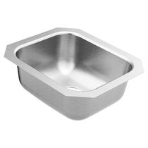 """Moen 2000 Series 14-1/2""""X12-1/2"""" Stainless Steel 20 Gauge Single Bowl Sink"""