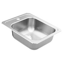 """Moen 2000 Series 17""""X21-1/4"""" Stainless Steel 20 Gauge Single Bowl Drop In Sink"""