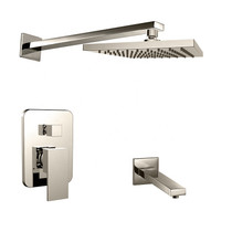 Royal Luxor Twin Shower System Brushed Nickel
