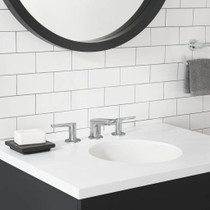 American Standard Studio S Collection Studio S Widespread Faucet with Lever Handles in Polished Chrome