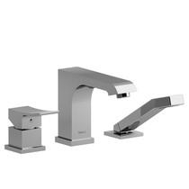 Riobel Zendo 3-Piece Deck-Mount Tub Filler w/ Hand Shower