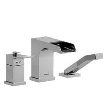 Riobel Zendo  3-Piece Type T/P (Thermo/Press Balance) Coaxial Deck-Mount Open Spout Tub Filler w/ Hand Shower