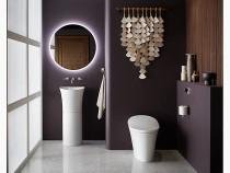 Kohler Veil™pedestal bathroom sink in white