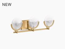 Kohler Arendela™Three-light sconce in Brushed Modern Brass