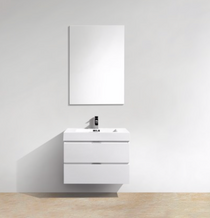 Blizz 30″ Wall Mount Modern Bathroom Vanity