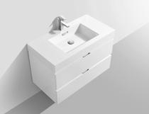 Blizz 36 inch White Wall Mount Modern Bathroom Vanity
