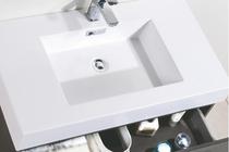 Royal Blizz 36 inch Gray Oak Wall Mount Modern Bathroom Vanity