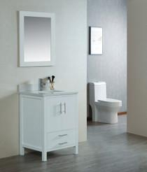 Ultra 24 inch White Bathroom Vanity **IN STOCK