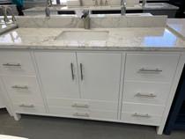 Ultra 60 inch White Single Sink Bathroom Vanity  **New