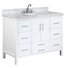 Ultra 48 inch White Single Sink Bathroom Vanity  **New
