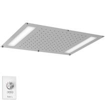 """Riobel 42 cm X 56 cm (22"""" X 16 ½"""") Built-In Shower Head with LED Light Chrome"""