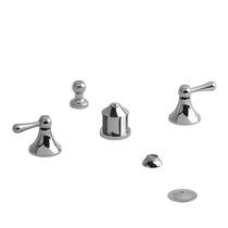 Riobel Classic Manhattan 4-Piece Bidet Faucet with Integrated Vacuum Breaker Chrome