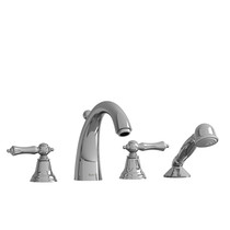 Riobel Classic Provence 4-Piece Deck-Mount Tub Filler with Hand Shower Chrome
