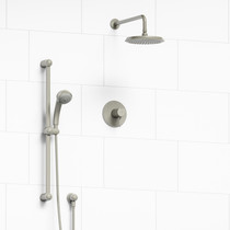 """Riobel Classic Type T/P 1/2"""" Coaxial 2-Way System with Hand Shower and Shower Head Brushed Nickel"""