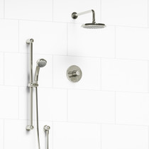 """Riobel Classic Type T/P 1/2"""" Coaxial 2-Way System with Hand Shower and Shower Head Polished Nickel"""