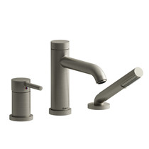 Riobel CS 3-Piece Type P (Pressure Balance) Deck-Mount Tub Filler with Hand Shower Brushed Nickel