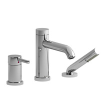 Riobel CS 3-Piece Type P (Pressure Balance) Deck-Mount Tub Filler with Hand Shower Chrome