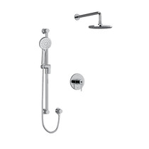 """Riobel CS Type T/P 1/2"""" Coaxial 2-Way System with Hand Shower and Shower Head Chrome"""