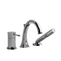 Riobel Edge 3-Piece Type P (Pressure Balance) Deck-Mount Tub Filler with Hand Shower Chrome