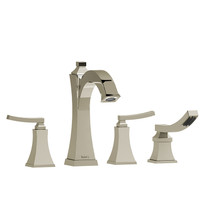 Riobel Eiffel 4-Piece Deck-Mount Tub Filler with Hand Shower Polished Nickel