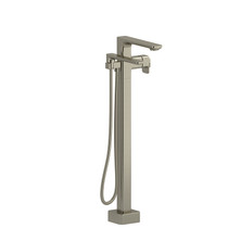 Riobel Equinox 2-Way Type T (Thermostatic) Coaxial Floor-Mount Tub Filler with Hand Shower Brushed Nickel