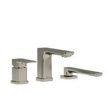 Riobel Equinox 3-Piece Type P (Pressure Balance) Deck-Mount Tub Filler with Hand Shower Brushed Nickel