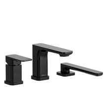 Riobel Equinox 3-Piece Type P (Pressure Balance) Deck-Mount Tub Filler with Hand Shower Matte Black