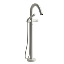 Riobel Pallace 2-way Type Floor-mount Tub Filler With Hand Shower Brushed Nickel Finish