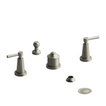 Riobel Pallace 4-Piece Bidet Faucet with Integrated Vacuum Breaker Brushed Nickel