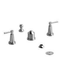 Riobel Pallace 4-Piece Bidet Faucet with Integrated Vacuum Breaker Chrome