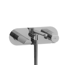 Riobel Parabola Wall-Mount Type T/P (Thermo/Pressure Balance) Coaxial Tub Filler with Hand Shower Chrome
