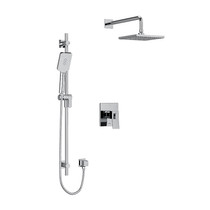 """Riobel Zendo Type T/P (Thermostatic/Pressure) 1/2"""" Coaxial 2-Way System with Hand Shower and Shower Head Chrome"""