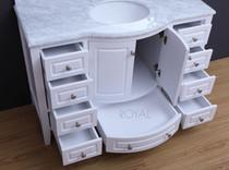 Royal Destiny 48 inch White Single Sink Bathroom Vanity