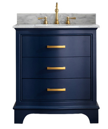 Lucy 30 inch Navy Blue Bathroom Vanity