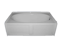 Royal Canyon 5-Foot Acrylic Skirted Bathtub RH-Drain (60 inches L x 30 inches W) **IN STOCK**
