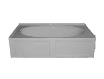 Royal Canyon 5-Foot Acrylic Skirted Bathtub LH-Drain (60 inches L x 30 inches W) **IN STOCK**