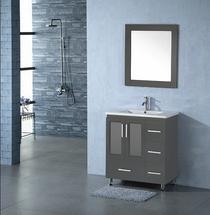 Luxe 36 inch Gray Bathroom Vanity